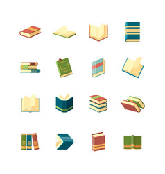 books collection simple icon school library vector image