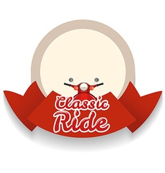 Border design with classic ride vector