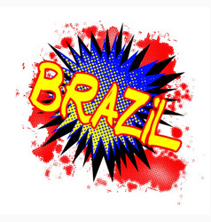 Brazil comic exclamation vector
