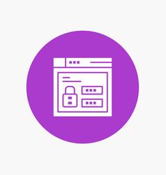 browser web lock code white glyph icon vector image