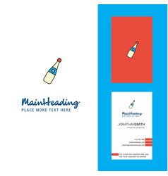 celebration drink creative logo and business card vector image