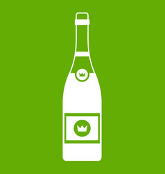 champagne icon green vector image