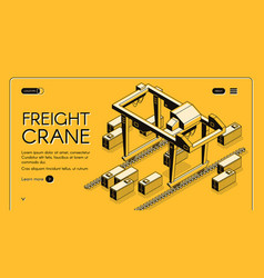 Commercial cargo shipment company website vector
