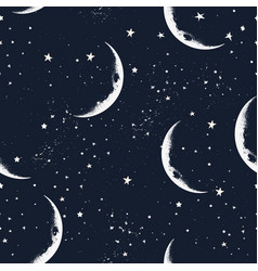 Creative hipster seamless pattern with stars vector