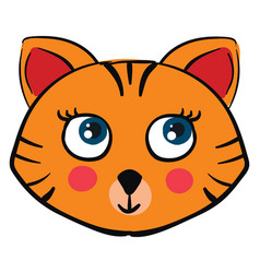 cute little tiger on white background vector image