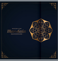 elegant golden premium mandala background vector image