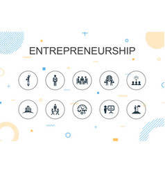 Entrepreneurship trendy infographic template thin vector