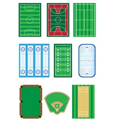 Fields for sports games vector