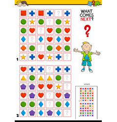 fill the pattern educational game for kids vector image