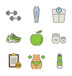 Fitness color icon vector
