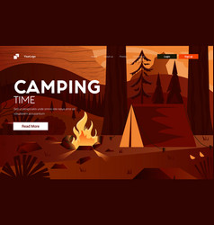 flat modern design camping vector image