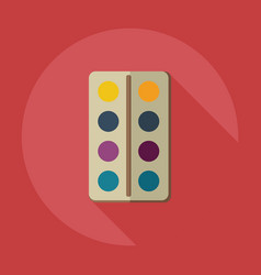 Flat modern design with shadow icon paint vector
