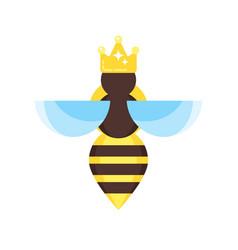 flat style queen bee vector image