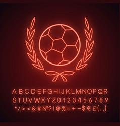 football championship league neon light icon vector image