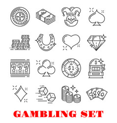 gambling sport icon casino and card game design vector image