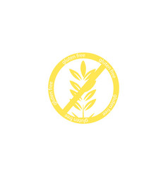 gluten free icon isolated on white background vector image