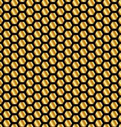 Golden beehive background vector