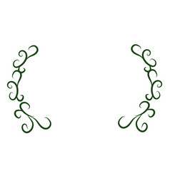 Green plant branches decoration vector
