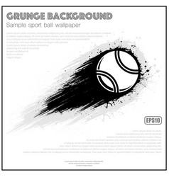 Grunge white tennis splash moving vector