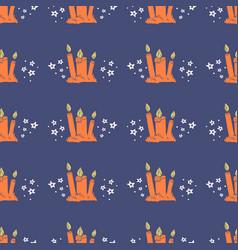 Halloween wax candle pattern-08 vector