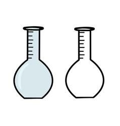 Hand drawn laboratory glass vector