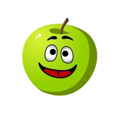 Healthy crisp green apple fruit vector