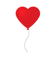 holiday of flying red balloon in vector image