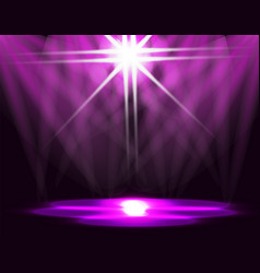 Lighting of the ice rink catwalk stage lights vector