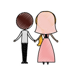 Married couple avatar characters vector