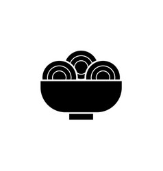 new year china noodles food icon can be used vector image