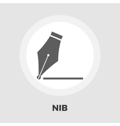 nib icon flat vector image