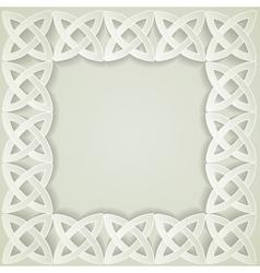 paper celtic border vector image