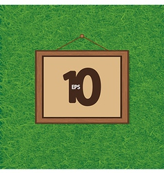 Picture frame on wall grass vector image