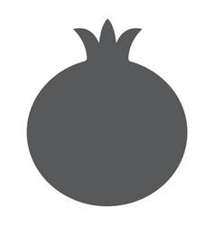 Pomegranate glyph icon fruit and vitamin vector