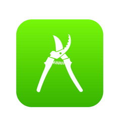 pruner icon green vector image