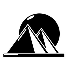 pyramid egypt icon simple black style vector image