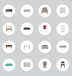 realistic boss armchair cupboard chair and other vector image