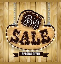 Retro design poster for big sale vector