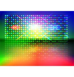 Rgb light wall vector