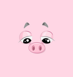 Sad piggy vector