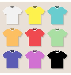 Set of t shirts vector