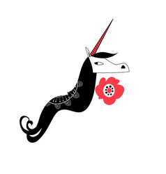 sign unicorn portrait vector image