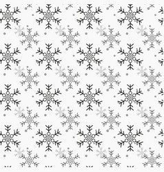 snowflake simple seamless pattern blue snow on vector image
