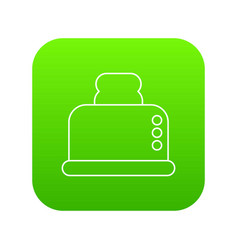 steal toaster icon green vector image