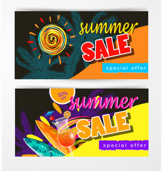 Summer sale template banner vector