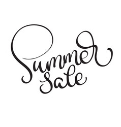 Summer sale text on white background vector