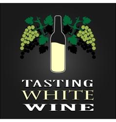 Tasting White Wine poster vector