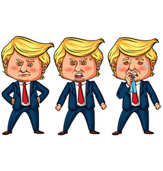 Three actions us president trump vector