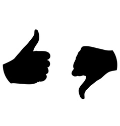 Thumb up thumb down silhouette vector