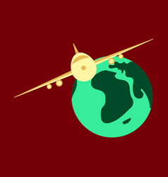 time to travel concept happy family rides plane vector image